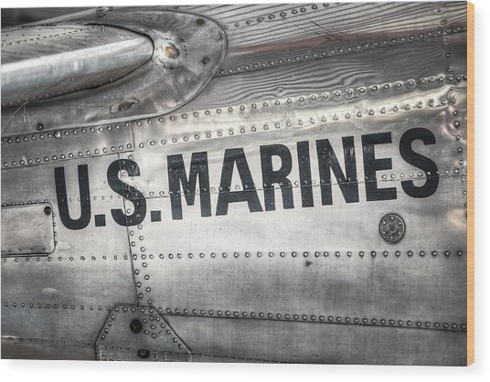 United States Marines - Beech C-45h Expeditor Wood Print