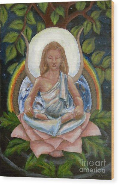 Universal Goddess Wood Print