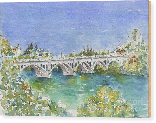 University Bridge Wood Print