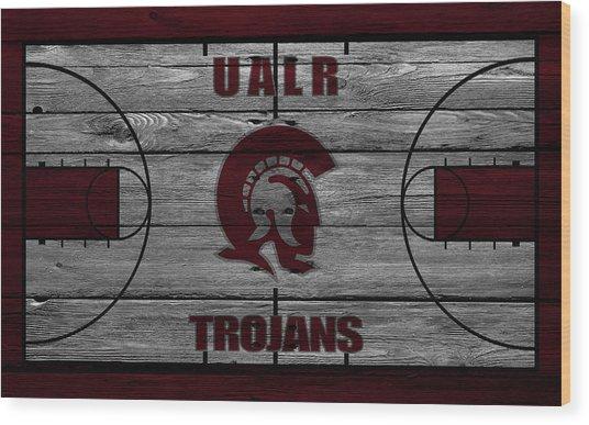 University Of Arkansas At Little Rock Trojans Wood Print