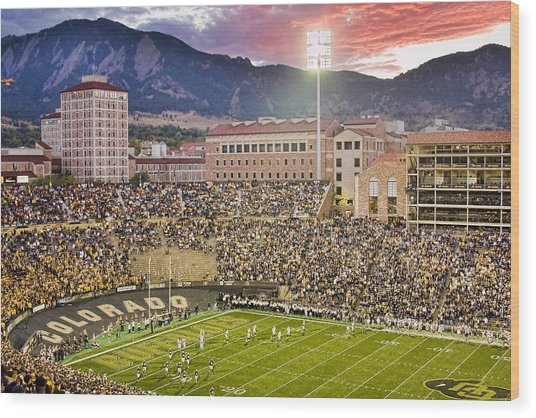 University Of Colorado Boulder Go Buffs Wood Print