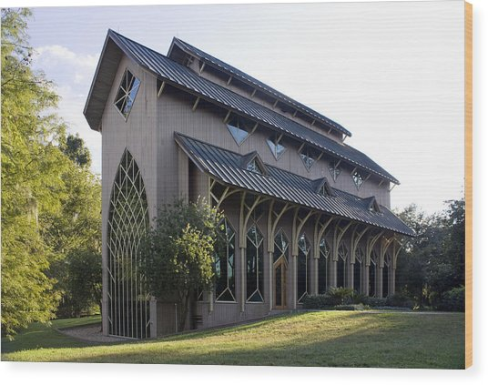 University Of Florida Chapel On Lake Alice Wood Print