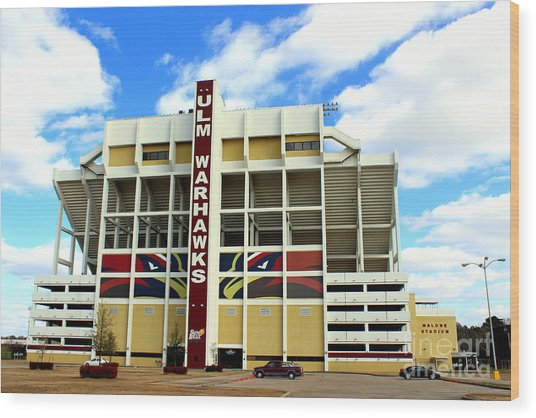 University Of Louisiana At Monroe Malone Stadium Wood Print