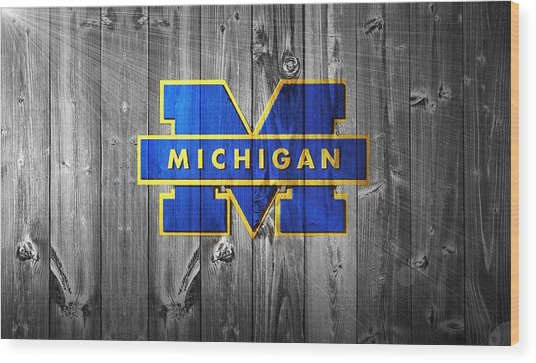 University Of Michigan Wood Print