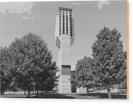 University Of Michigan Lurie Bell Tower Wood Print