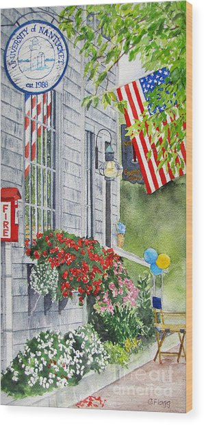 University Of Nantucket Shop Wood Print