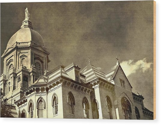 University Of Notre Dame Wood Print