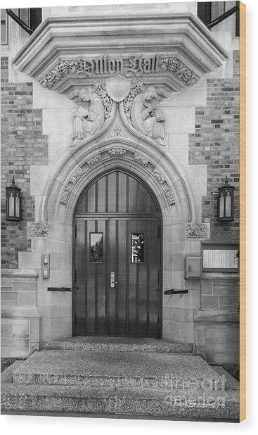 University Of Notre Dame Dillon Hall Wood Print