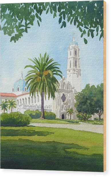 University Of San Diego Wood Print
