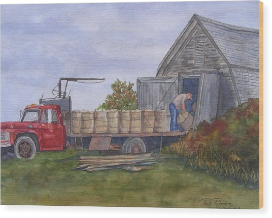 Unloading At The Potato House Wood Print