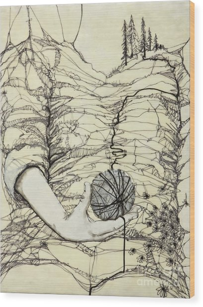 Unravel #1 Wood Print