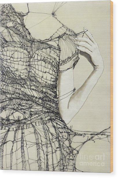 Unravel #2 Wood Print