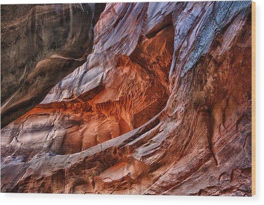 Unreachable Color Wood Print by Juan Carlos Diaz Parra