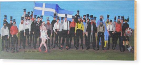 Unst Mail Voice Choir World Tour Wood Print