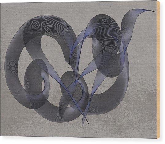 Untangled Hearts Wood Print