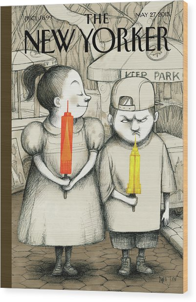 New Yorker May 27th, 2013 Wood Print