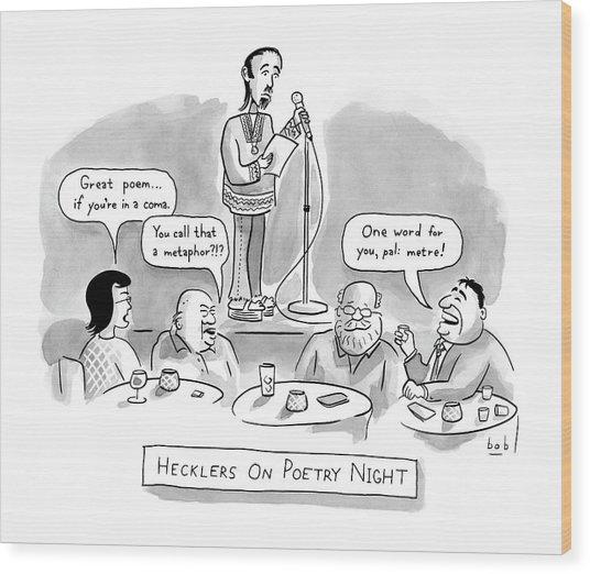 New Yorker June 11th, 2007 Wood Print