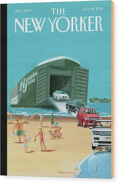 New Yorker July 22nd, 2013 Wood Print by Bruce McCall