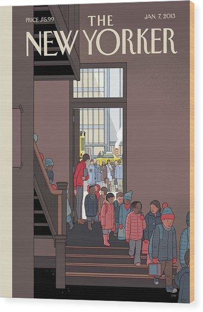New Yorker January 7th, 2013 Wood Print