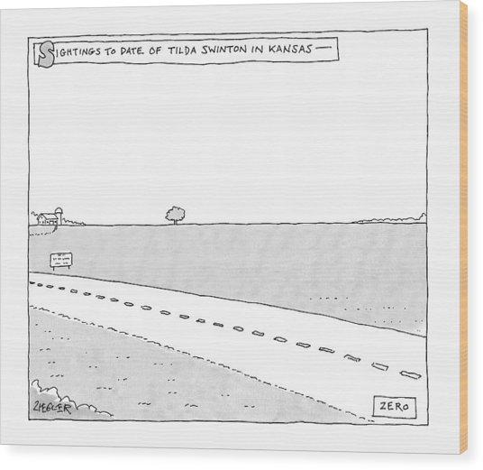 New Yorker September 5th, 2016 Wood Print