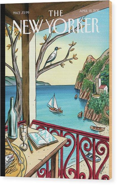New Yorker April 18th, 2011 Wood Print