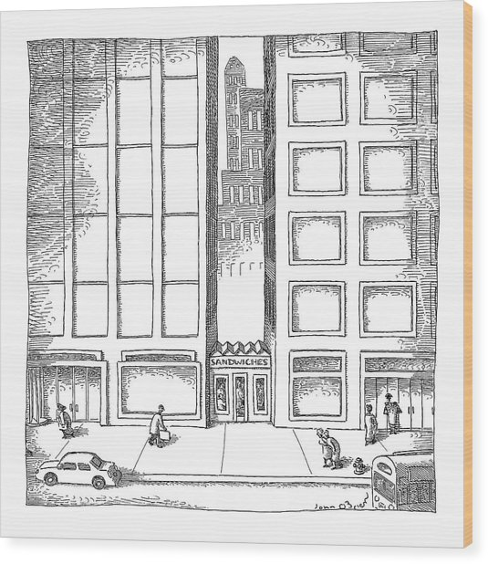 New Yorker December 12th, 2005 Wood Print