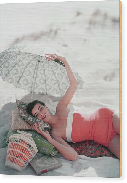 Vogue July 1st, 1954 Wood Print