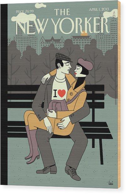 New Yorker April 1st, 2013 Wood Print by Luci Gutierrez