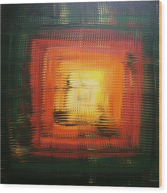 Untitled Painting 6 Wood Print by Drew Shourd