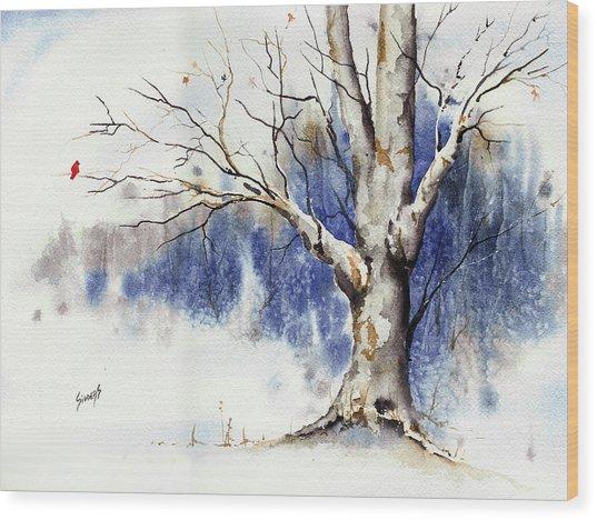 Untitled Winter Tree Wood Print