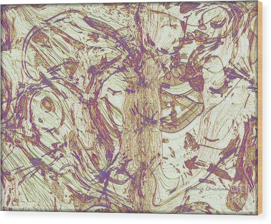 Upheaval Wood Print