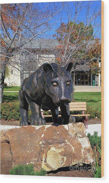 Upj Panther Wood Print