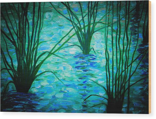 Upon The Waters Wood Print