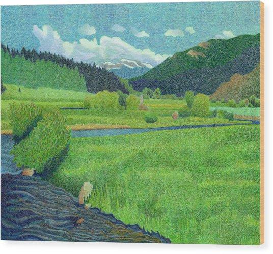 Upper Bear Creek Colorado Wood Print