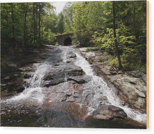 Upper Chapel Brook Falls Wood Print