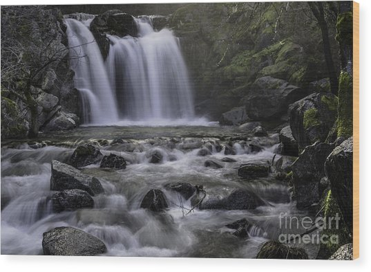 Upper Crystal Creek Falls  Wood Print