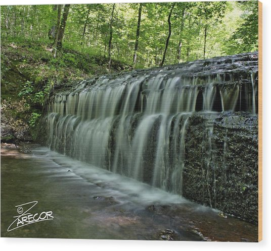 Upper Falls At Stillhouse Hollow Wood Print
