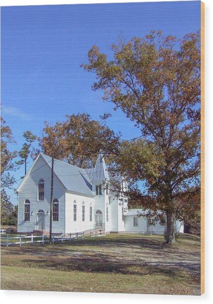 Upper Neck Church Wood Print