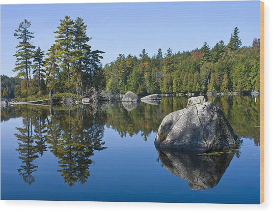 Upper Saranac Lake Ny Wood Print