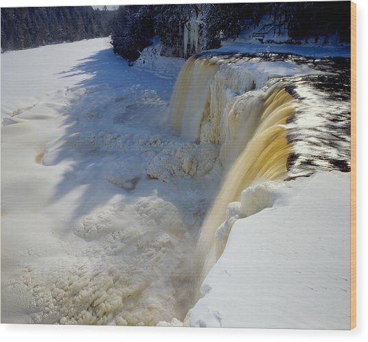 Upper Tahquamenon Falls Wood Print by Tim Hawkins
