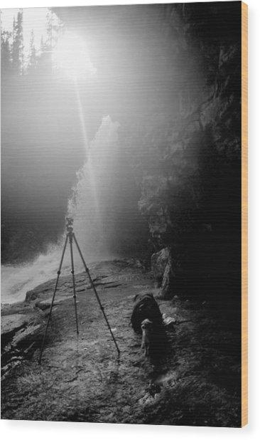 Upper Wolf River Falls Wood Print