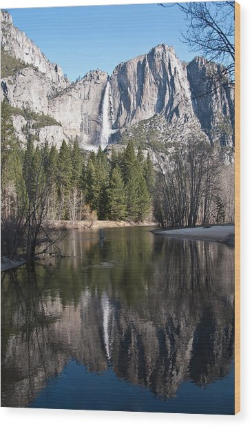 Upper Yosemite Fall Wood Print