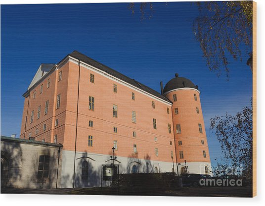 Uppsala Castle - Sweden - With Deep Blue Sky Wood Print