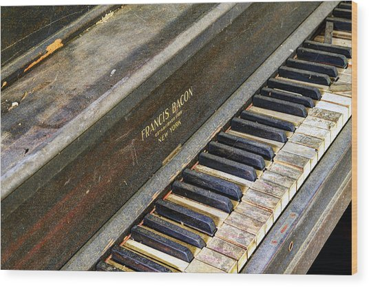 Upright Piano Wood Print