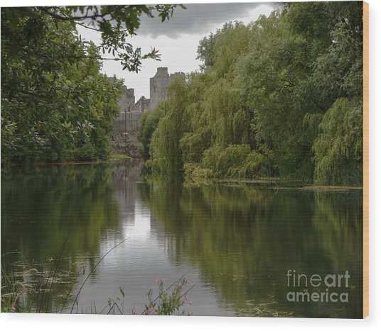 Upriver From Cahir Castle Wood Print