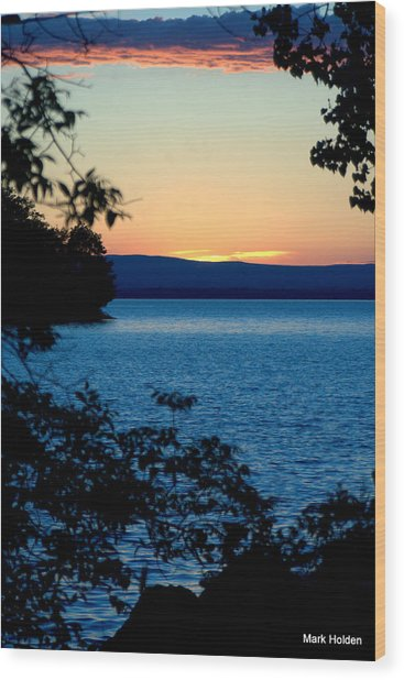 Upstate Ny Sunset  Wood Print by Mark Holden