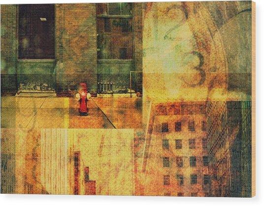 Urban Collage Wood Print