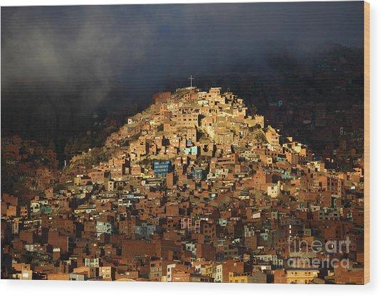 Urban Cross 2 Wood Print