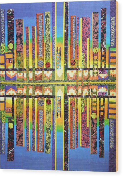 Urban Fabrics Wood Print by Bob Craig