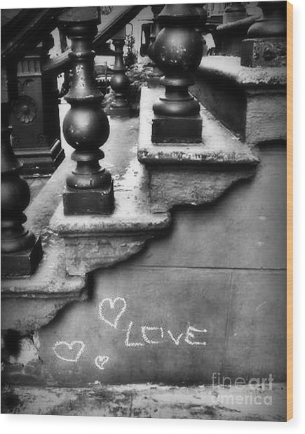 Urban Love Wood Print